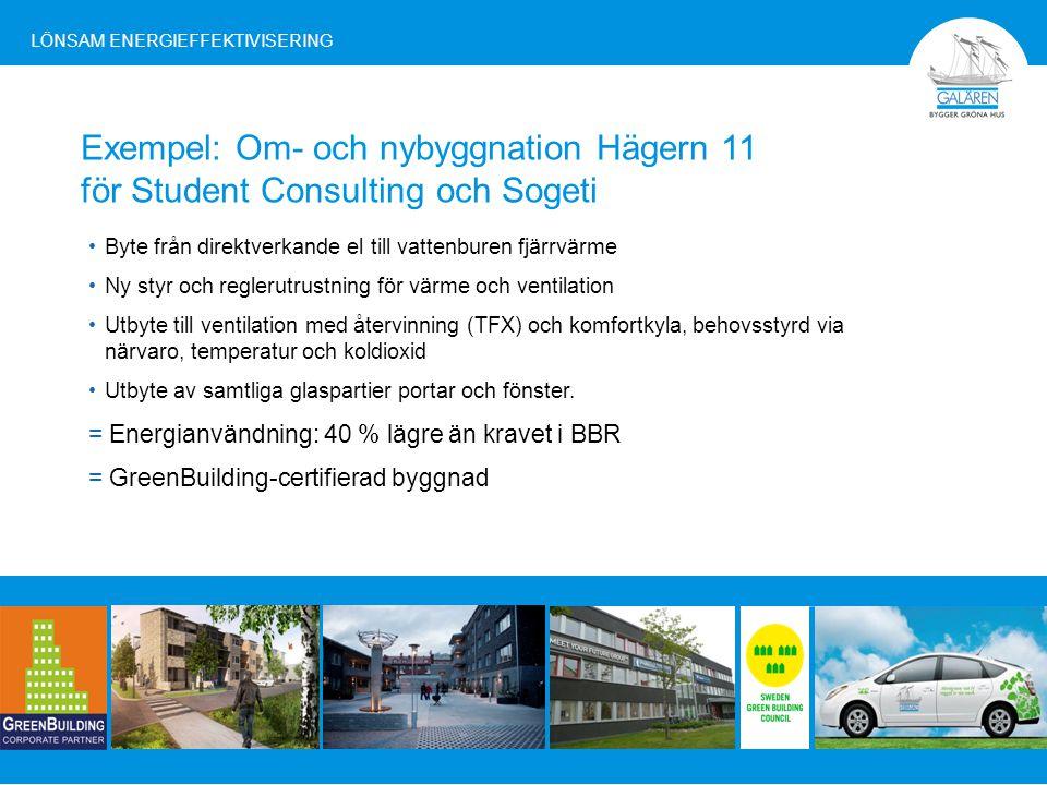 Den här borde alla fastighetsbolag ha Galären är det enda fastighetsbolaget i Norrbotten som tilldelats EU-kommissionens certifiering GreenBuilding LÖNSAM ENERGIEFFEKTIVISERING
