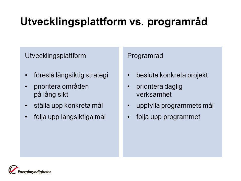Utvecklingsplattform vs.