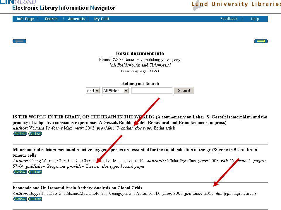 Ingegerd Rabow, Lunds Universitet, Biblioteksdirektionen ELIN@