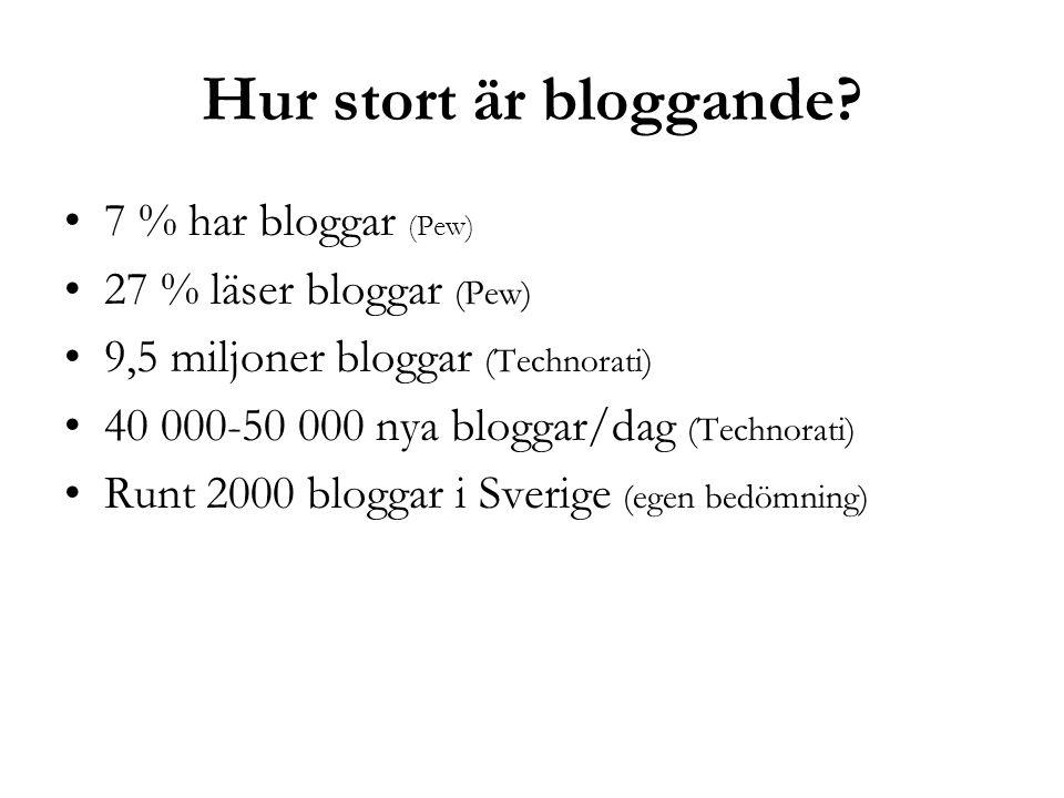 Hur stort är bloggande.