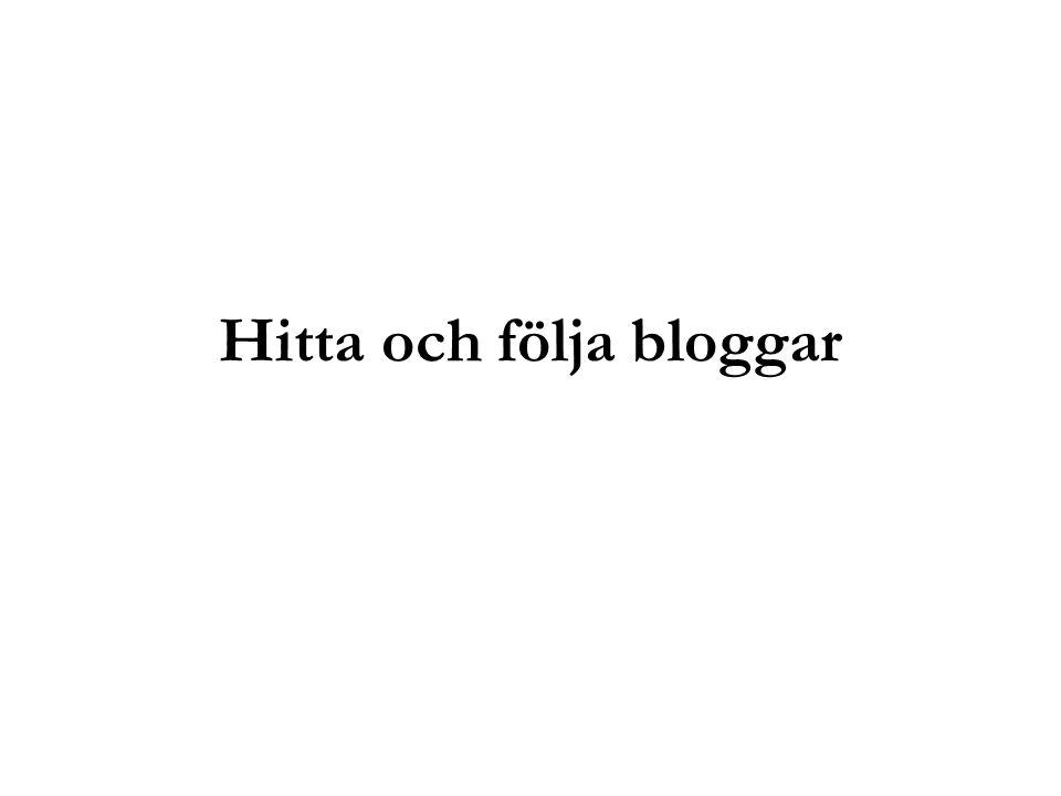 Hitta och följa bloggar
