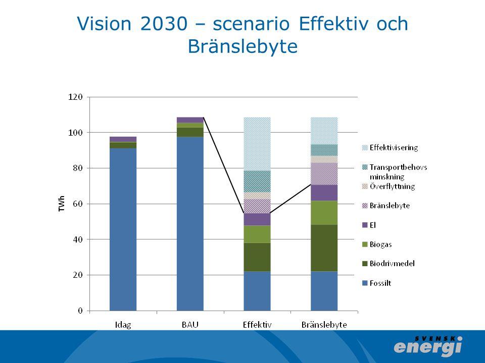 Vision 2030 – scenario Effektiv och Bränslebyte