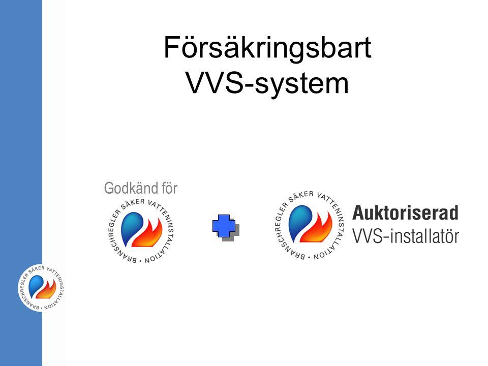 Försäkringsbart VVS-system Godkänd för
