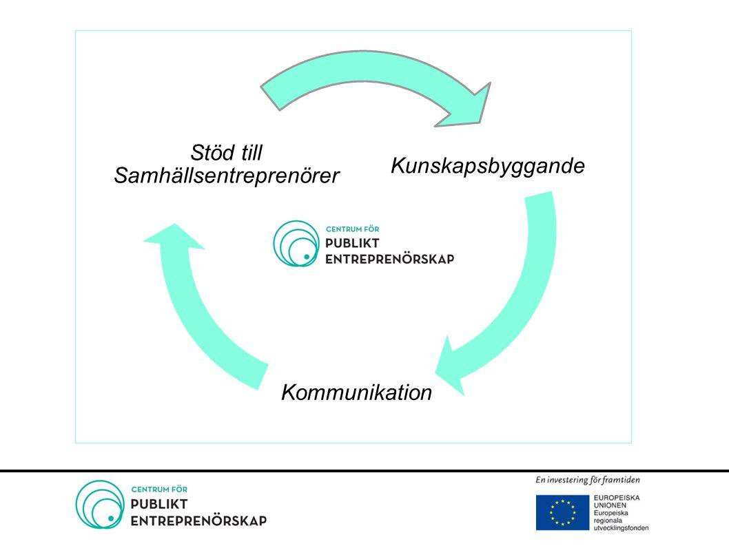 Centrum för Publikt Entreprenörskap Stöd till 100 projekt 40 nya arbetstillfällen Delaktighet Ny kunskap genom folkbildning
