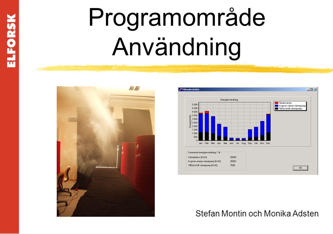 Programområde Användning Stefan Montin och Monika Adsten