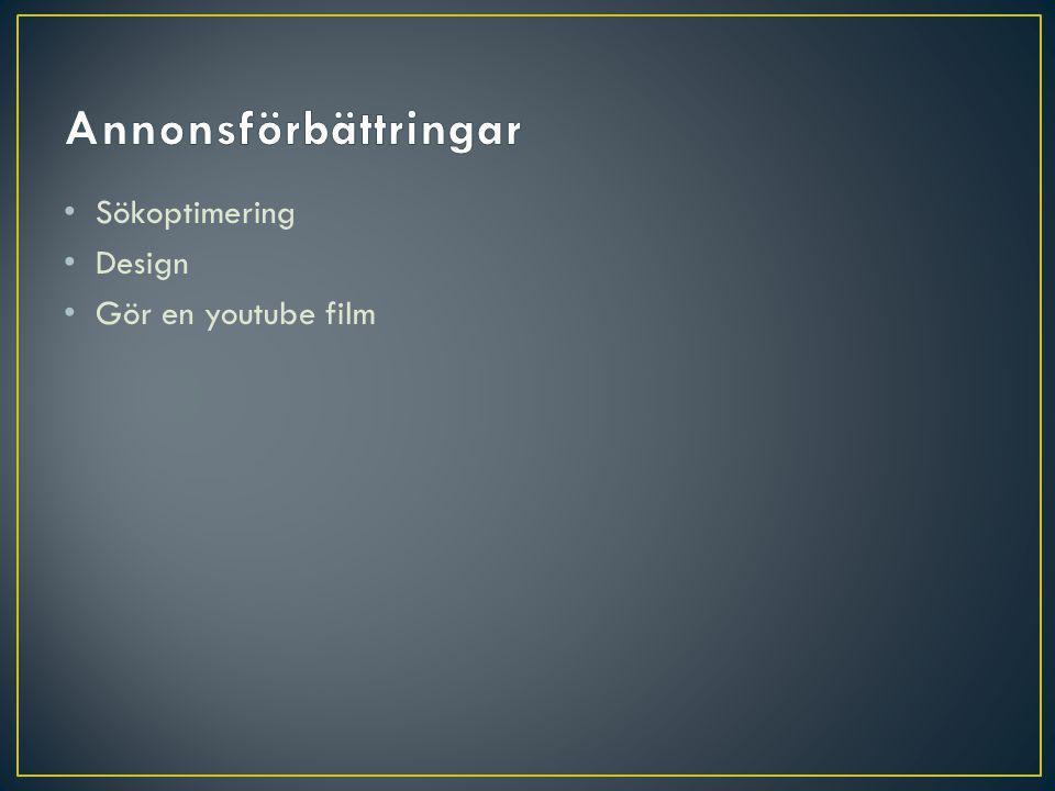 Sökoptimering Design Gör en youtube film