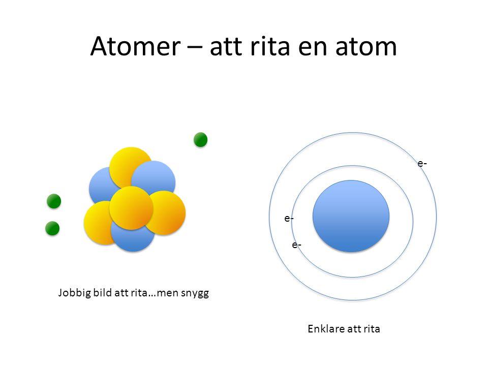 UPPGIFT 1. Rita din egen atom på ett papper. Din atom ska ha 6 protoner, 6 neutroner och 6 elektroner. Visa Anne Lucero eller Susanne när du är klar!