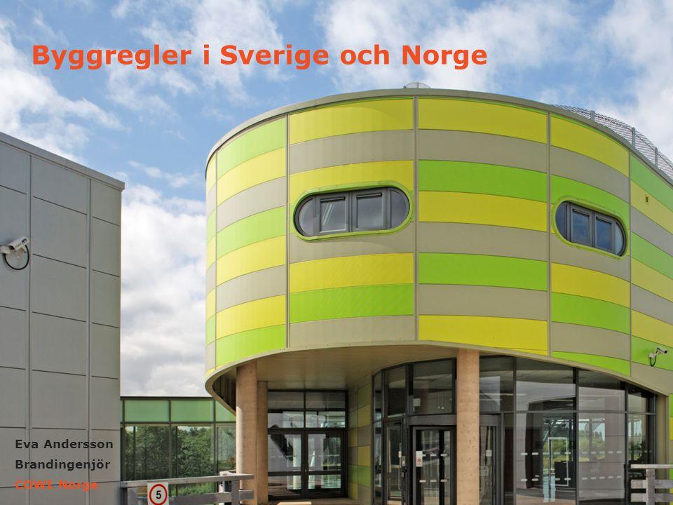 20 MARS 2012 KINGSPAN IPN CORE PANELS 1 Eva Andersson Brandingenjör COWI Norge Byggregler i Sverige och Norge