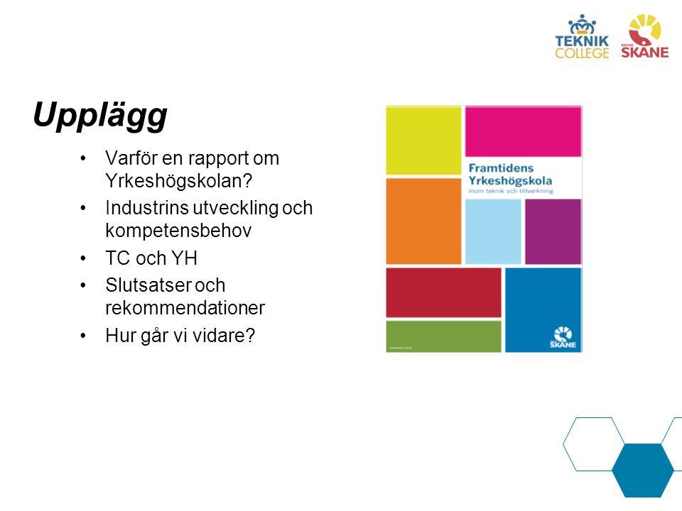 Upplägg Varför en rapport om Yrkeshögskolan.