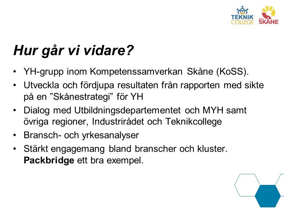 """Hur går vi vidare? YH-grupp inom Kompetenssamverkan Skåne (KoSS). Utveckla och fördjupa resultaten från rapporten med sikte på en """"Skånestrategi"""" för"""