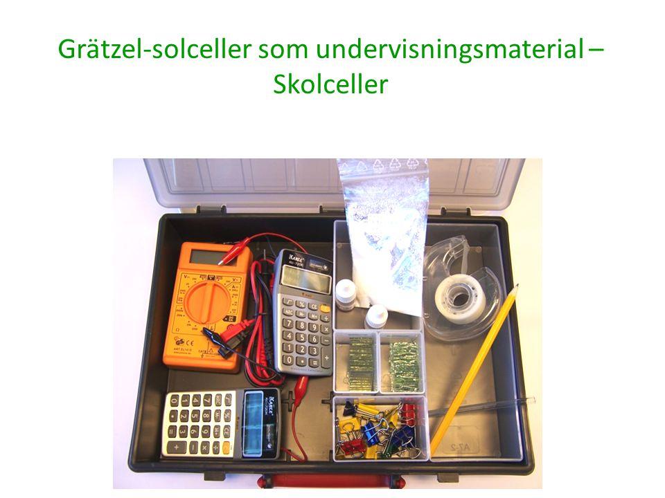 Grätzel-solceller som undervisningsmaterial – Skolceller