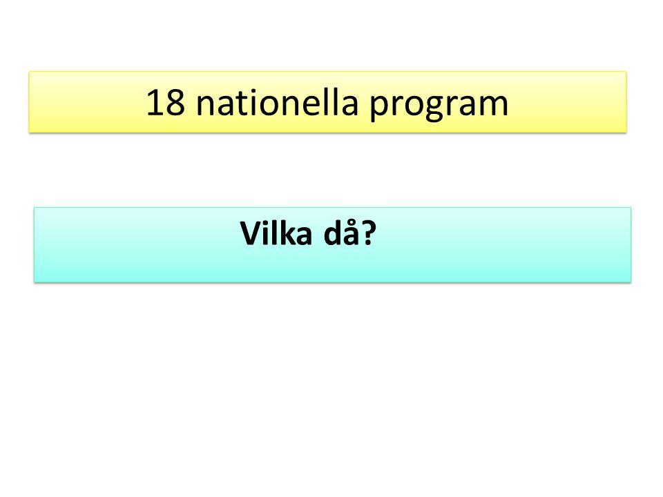 18 nationella program Vilka då?