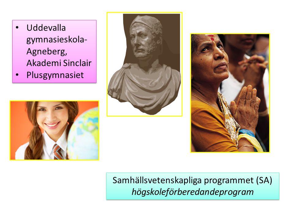 Samhällsvetenskapliga programmet (SA) högskoleförberedandeprogram Samhällsvetenskapliga programmet (SA) högskoleförberedandeprogram Uddevalla gymnasie