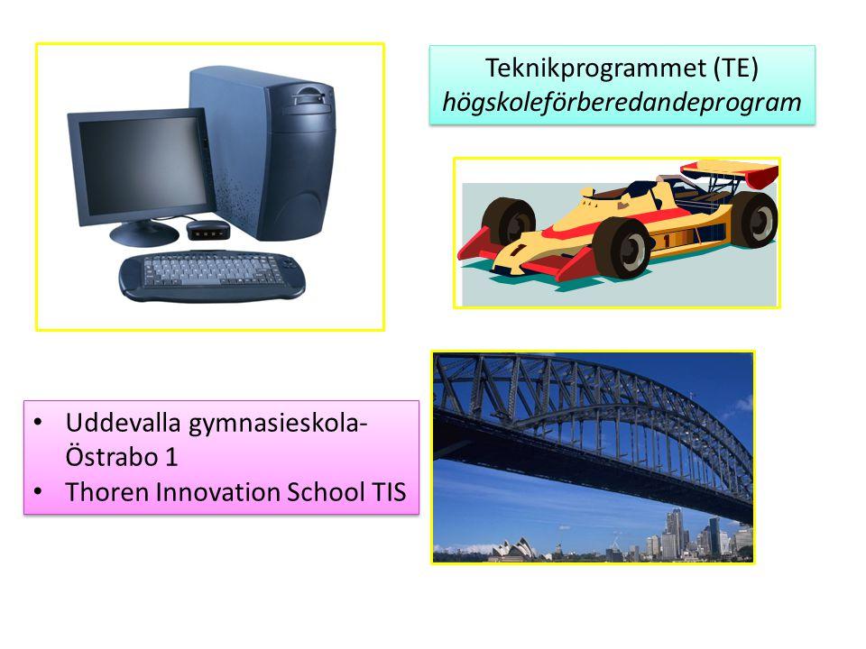 Teknikprogrammet (TE) högskoleförberedandeprogram Teknikprogrammet (TE) högskoleförberedandeprogram Uddevalla gymnasieskola- Östrabo 1 Thoren Innovati