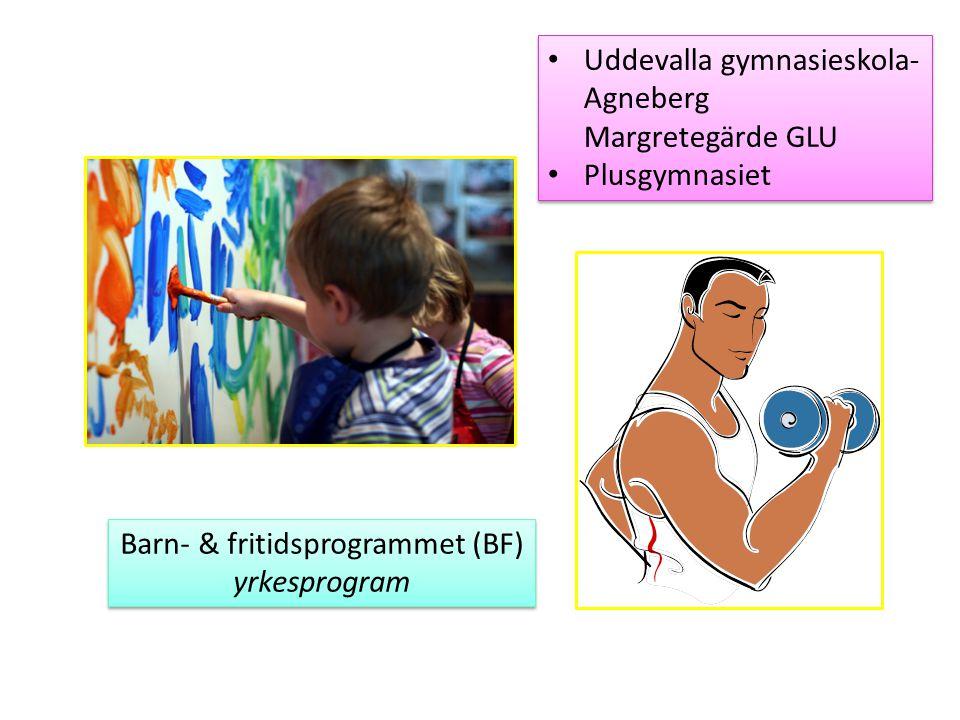 Barn- & fritidsprogrammet (BF) yrkesprogram Barn- & fritidsprogrammet (BF) yrkesprogram Uddevalla gymnasieskola- Agneberg Margretegärde GLU Plusgymnas