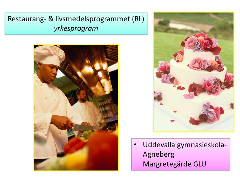 Restaurang- & livsmedelsprogrammet (RL) yrkesprogram Restaurang- & livsmedelsprogrammet (RL) yrkesprogram Uddevalla gymnasieskola- Agneberg Margretegä
