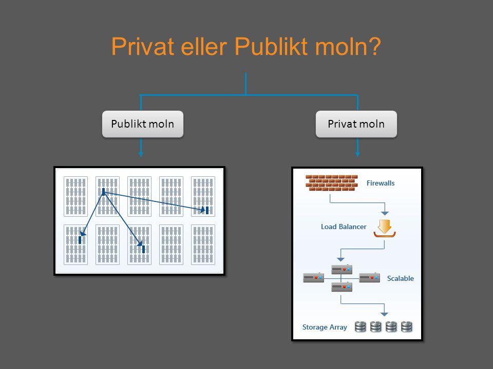 Privat eller Publikt moln Publikt moln Privat moln