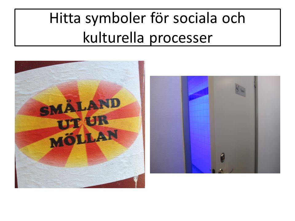 Hitta symboler för sociala och kulturella processer