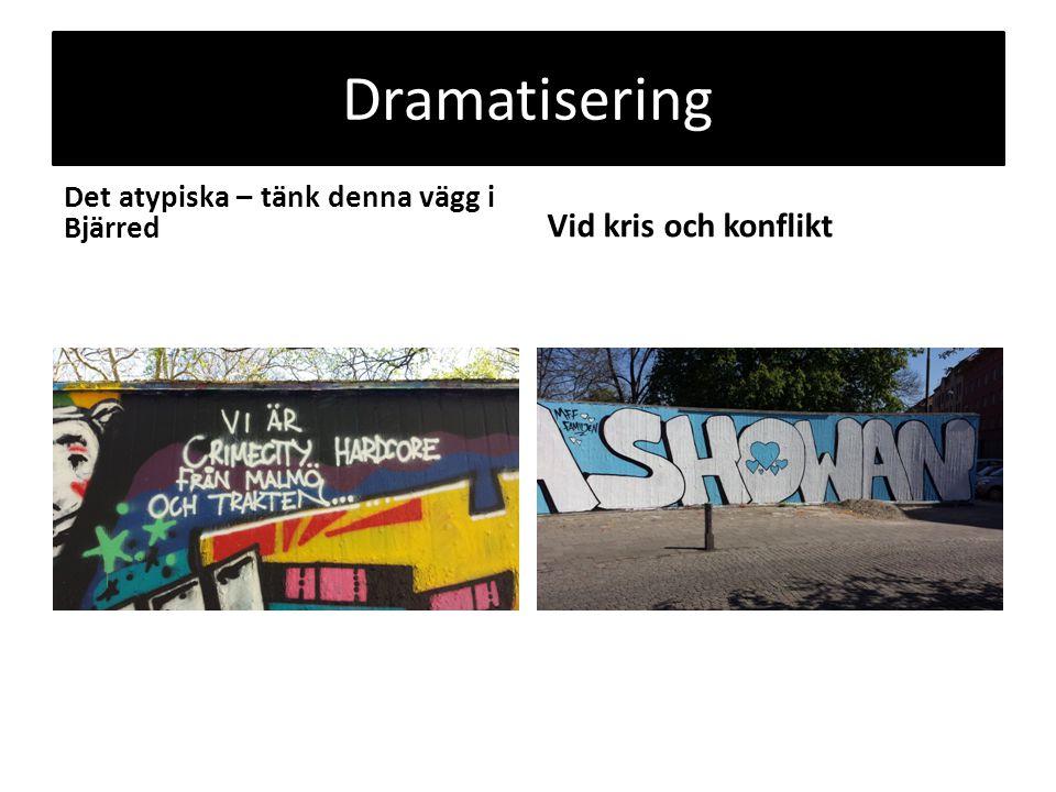 Dramatisering Det atypiska – tänk denna vägg i Bjärred Vid kris och konflikt