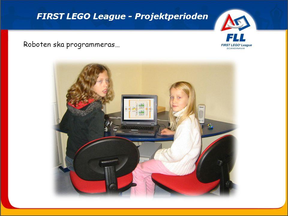Roboten ska programmeras… FIRST LEGO League - Projektperioden