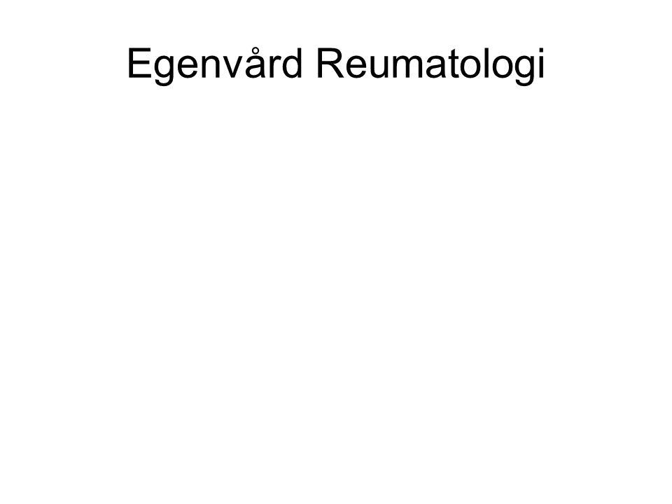 Egenvård Reumatologi