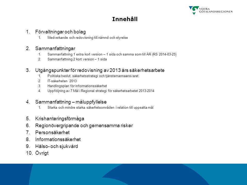 Informationssäkerhet och olika utbildningsområden.