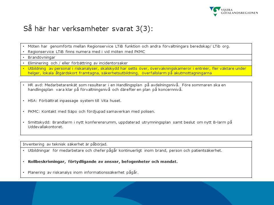 HR avd: Medarbetarenkät som resulterar i en Handlingsplan på avdelningsnivå. Före sommaren ska en handlingsplan vara klar på förvaltningsnivå och däre