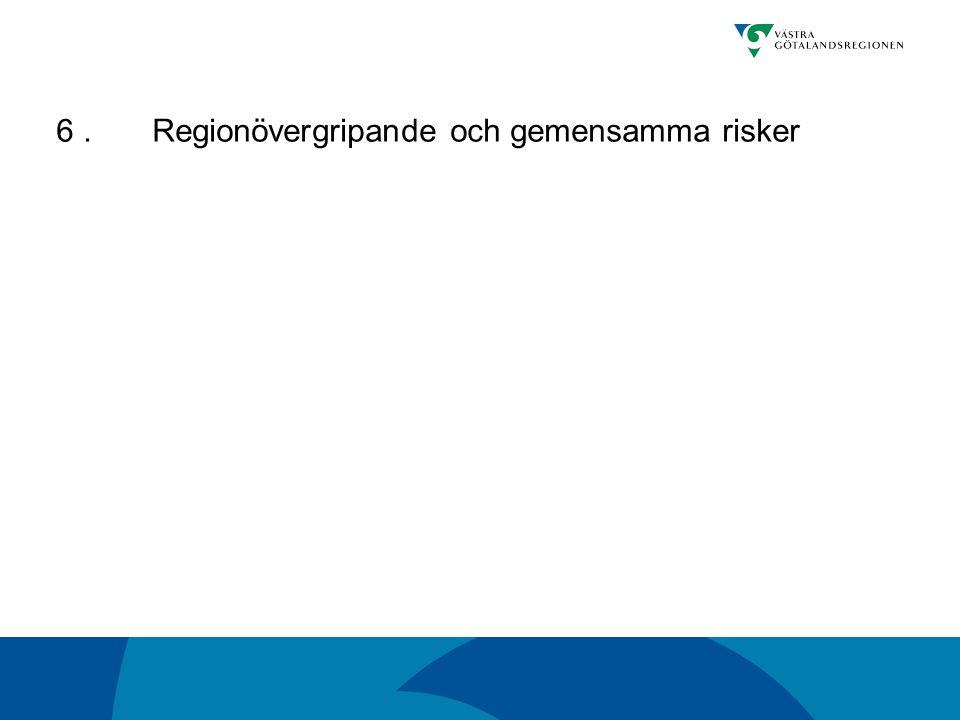 6.Regionövergripande och gemensamma risker