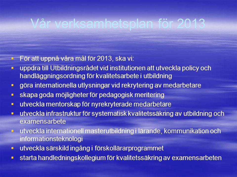 Omfattning per område enligt prel.