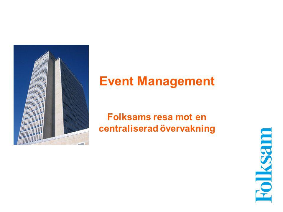 Event Management Folksams resa mot en centraliserad övervakning