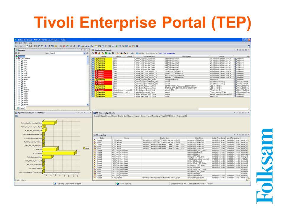 Tivoli Enterprise Portal (TEP)