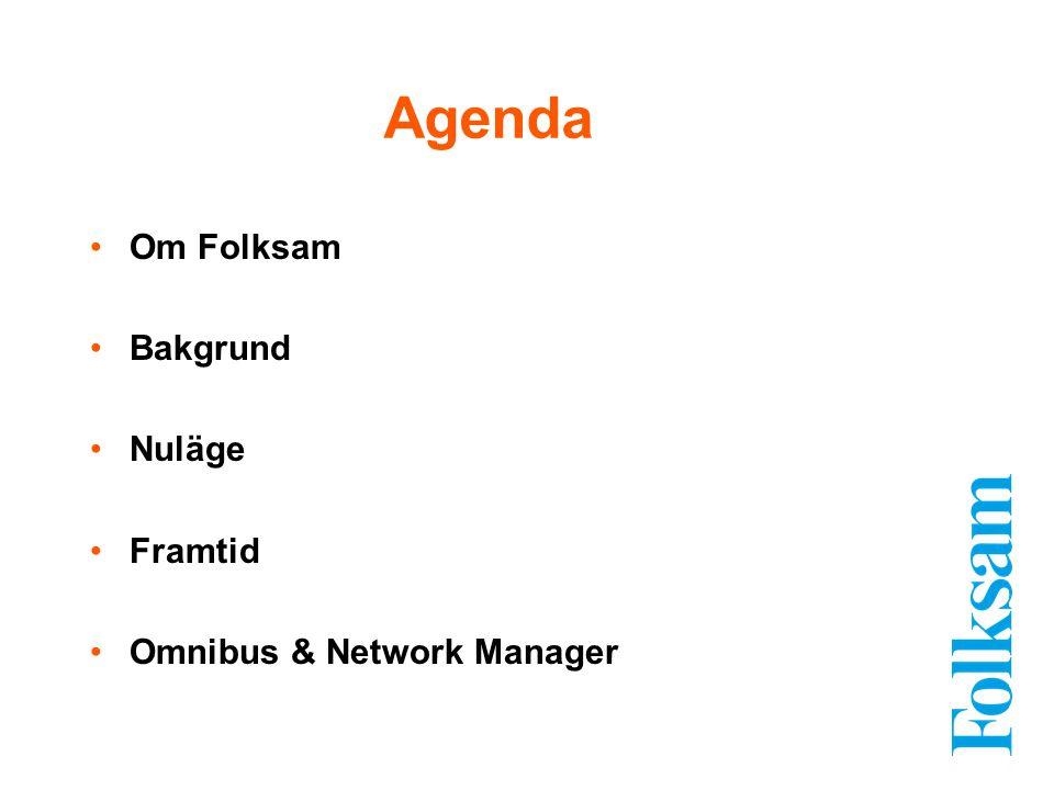 Om Folksam Bakgrund Nuläge Framtid Omnibus & Network Manager Agenda