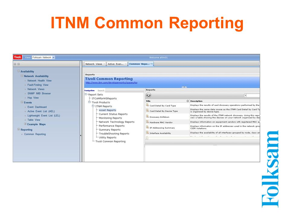ITNM Common Reporting