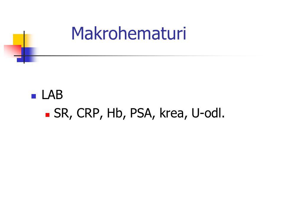 Makrohematuri DT urografi - beställs av remisskrivaren Remiss för cystoscopi - BSV