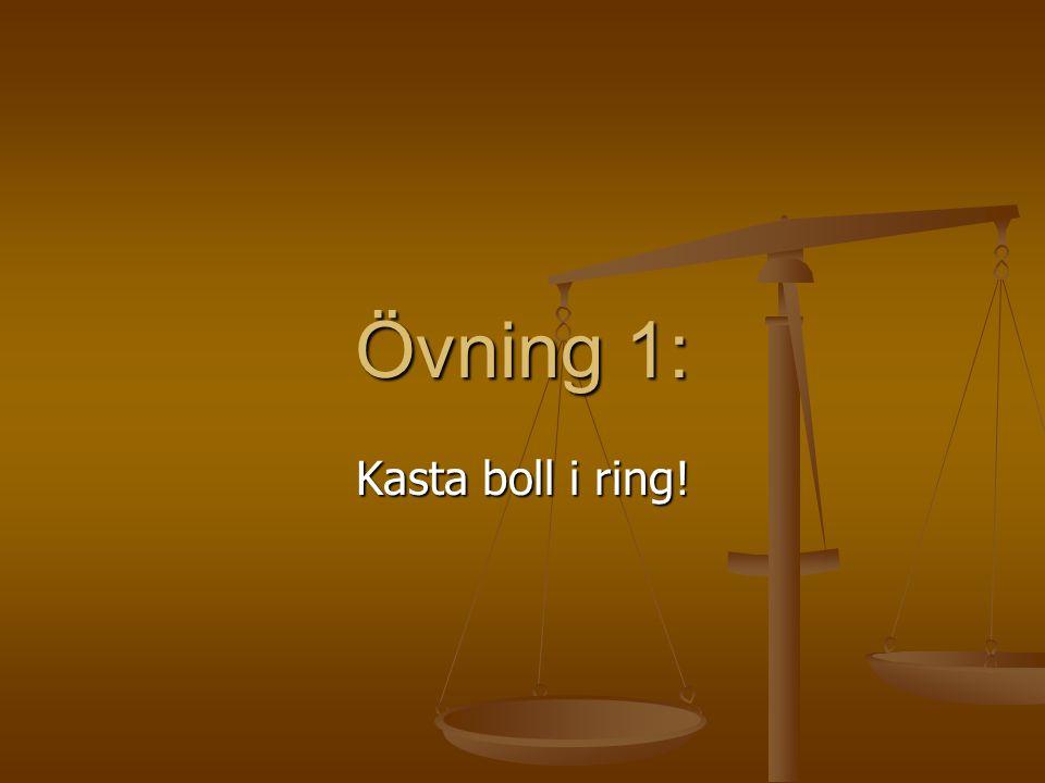 Övning 1: Kasta boll i ring!