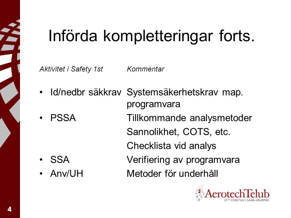 4 Införda kompletteringar forts.