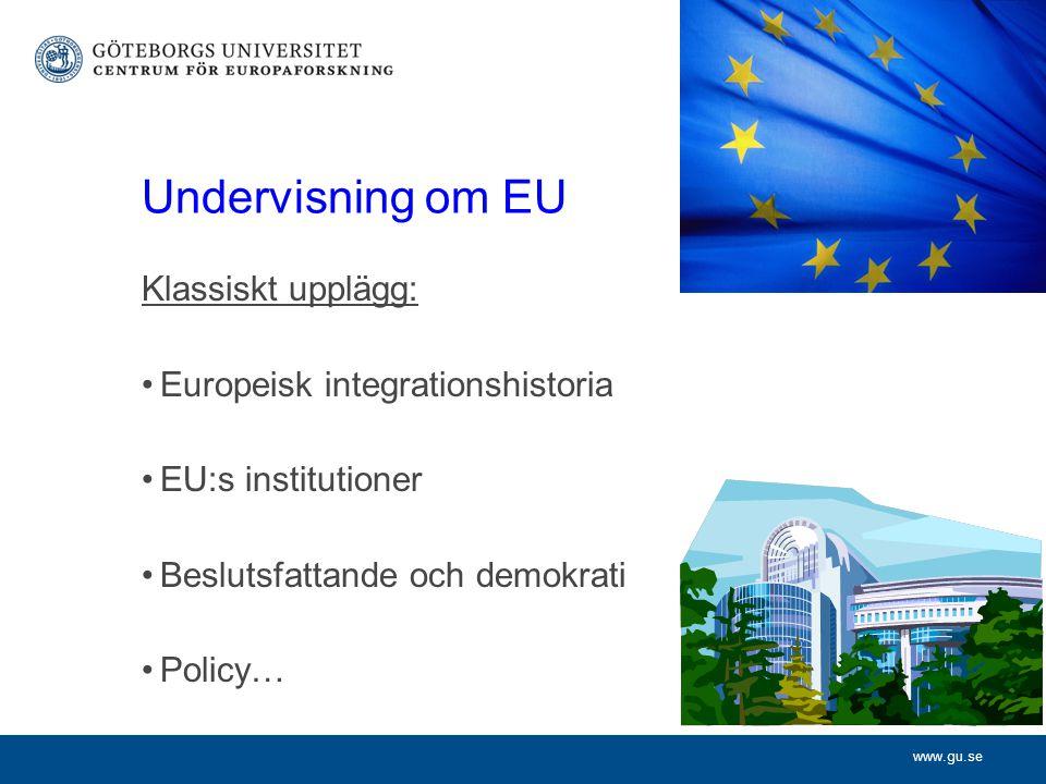 www.gu.se Förslag: tvärtom.Börja med policyfrågor.