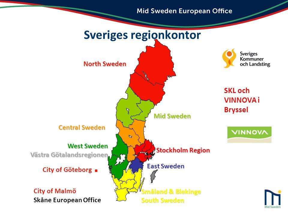 Mid Sweden European Office nära dig i regionen och i Bryssel HUVUDMÄN …och vi samarbetar även med näringslivet och andra organisationer.