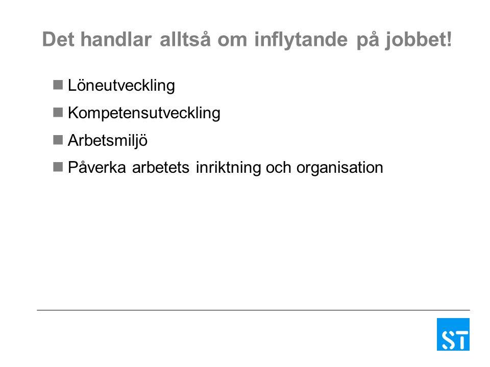 Det handlar alltså om inflytande på jobbet.