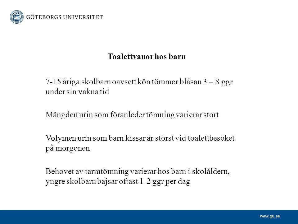 www.gu.se Lundblad B, Hellström A-L, Berg M.