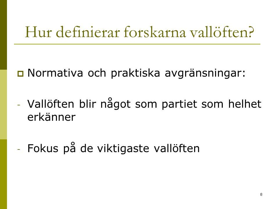 9 Valmanifesten hamnar i centrum Fokus riktas därmed mot: -partiet snarare än enskilda företrädare -direkt kommunikation snarare än medialiserad info -det som sägs inför val