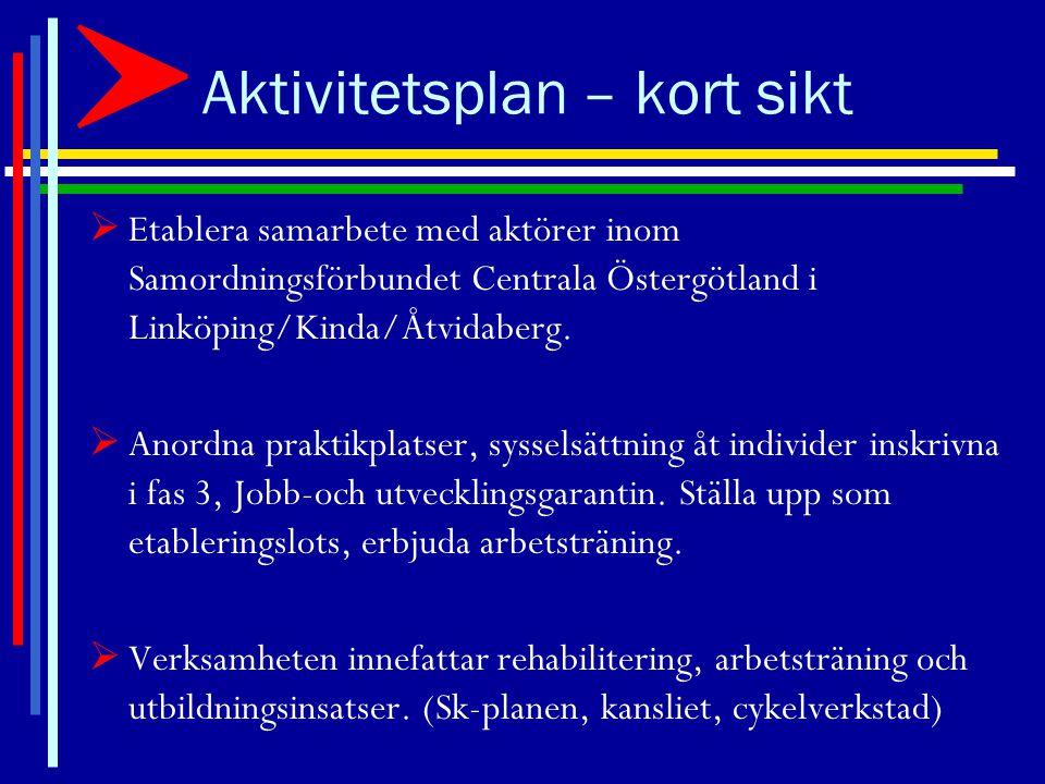 Aktivitetsplan–medellång sikt  Delta i upphandlingar i kommun(er) i Östergötland.