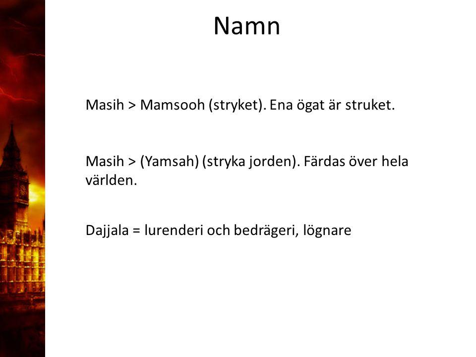 3.Delandet av månen Masih > Mamsooh (stryket). Ena ögat är struket.