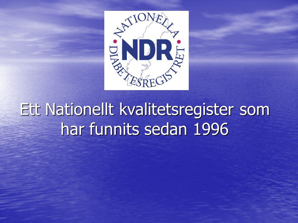 Ett Nationellt kvalitetsregister som har funnits sedan 1996