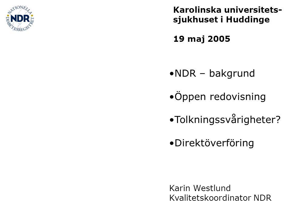 NDR – bakgrund Öppen redovisning Tolkningssvårigheter.