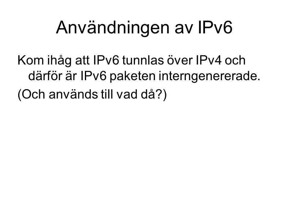 Borås->GöteborgGöteborg->Borås Starttid02.0010.0014.0020.0002.0010.0014.0020.00 Antal IPpaket per SYN- paket 6169761151148191130 Andel IP paket som är fragment 0,05%0,18%0,19%0,12%0,00%0,03%0,02%0,01%