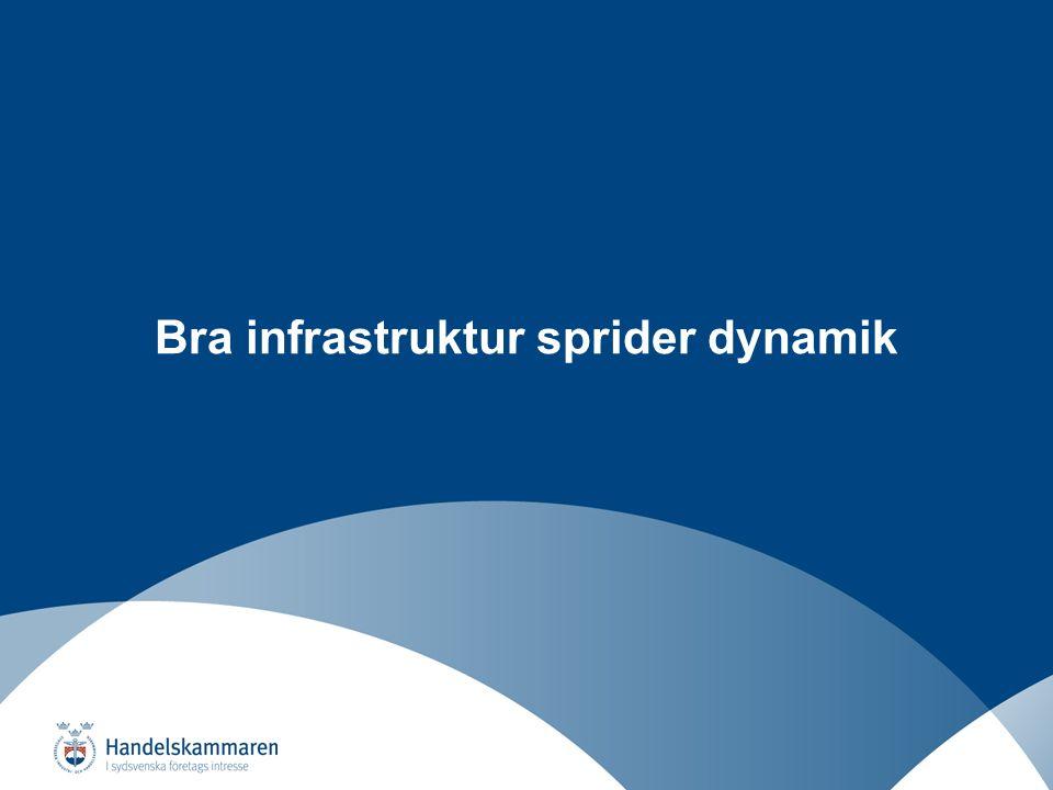 Näringslivsutveckling i ett regionalt perspektiv Bra infrastruktur sprider dynamik