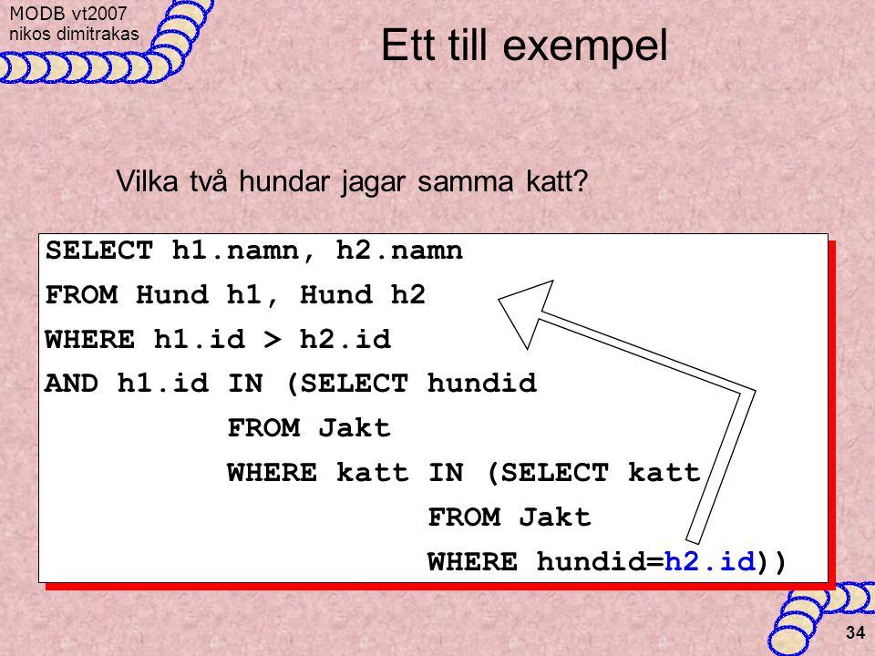 MODB v t2007 nikos dimitrakas 34 Ett till exempel Vilka två hundar jagar samma katt.