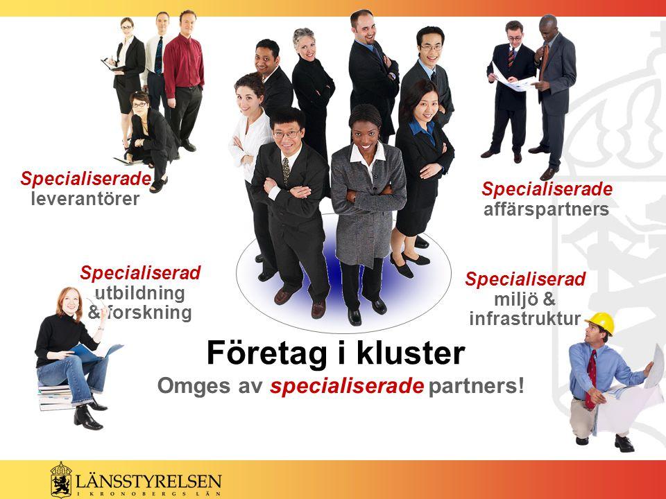 Specialiserad utbildning & forskning Specialiserade leverantörer Specialiserade affärspartners Omges av specialiserade partners.