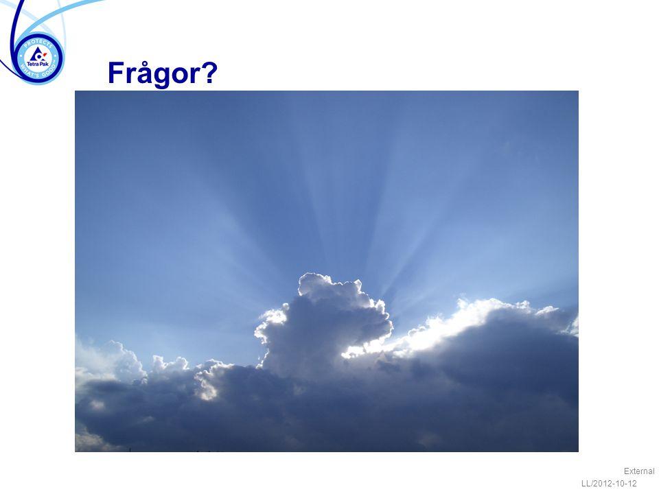 LL/2012-10-12 External Frågor?
